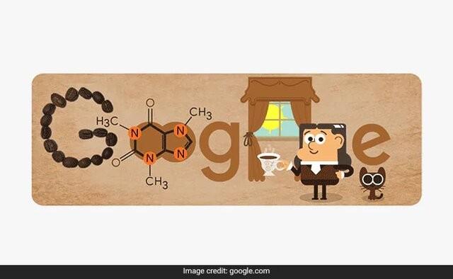 """کافئین گوگل - تغییر لوگوی گوگل به افتخار دانشمندی که """"کافئین"""" را شناسایی کرد"""