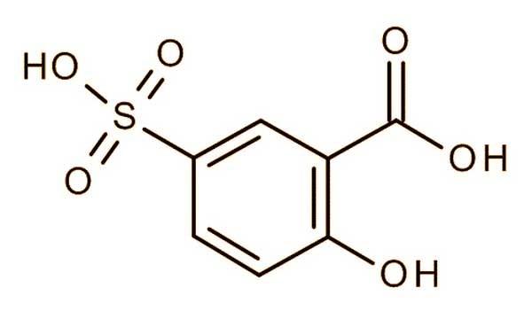 5 سولفوسالیسیلیک اسید - 5-سولفوسالیسیلیک اسید (Sulfosalicylic acid)